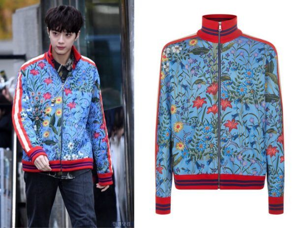 937c393df0f Wanna One Lai Guanlin (라이관린) wore flower print jacket at Music Bank  Pre-Recording It is the Gucci new flora technical jersey jacket.