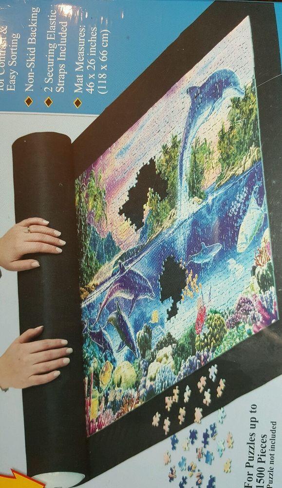 Ravensburger Puzzle Stow Go Puzzle Storage Roll Up Black Felt