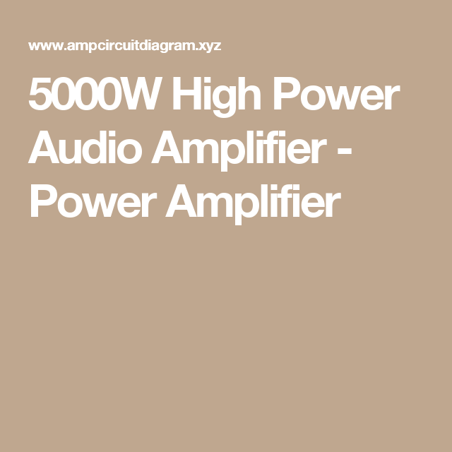 Swell 5000W High Power Audio Amplifier Power Amplifier Proyecto Wiring 101 Vieworaxxcnl