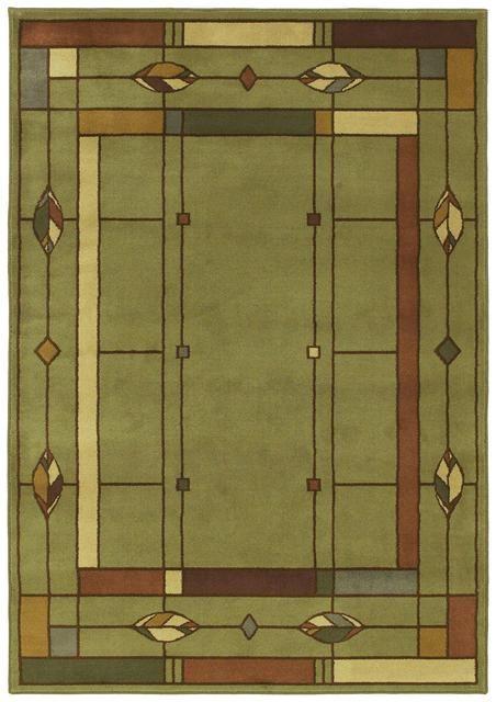 In Sage Craftsman Interior Craftsman Style Shaw Area Rugs