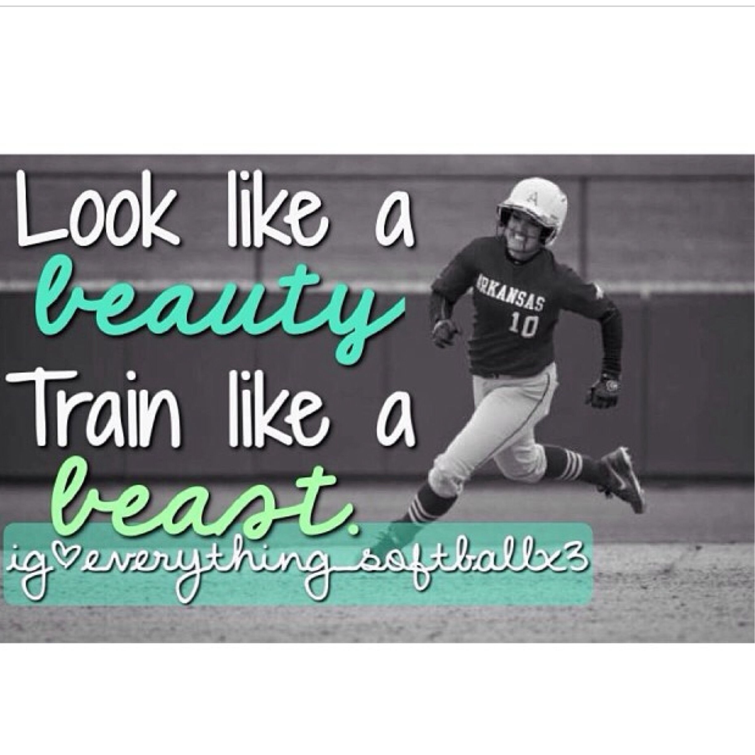 inspirational quote for my softball players out there