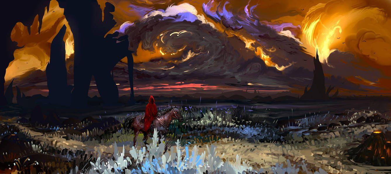 Dark Land By Hangmoon On Deviantart Dark Tower Art Photo Canvas Wallpaper Pc