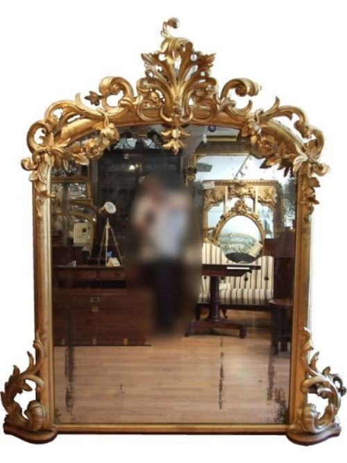 A 19th Century gilded antique mirror with good original glass and backboards
