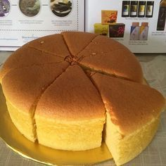 Golden Banana Sponge Cake