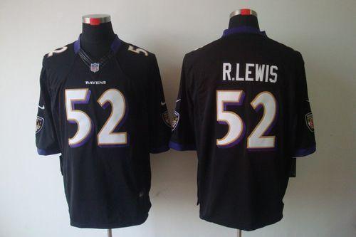 8c753a5de Nike Ravens  52 Ray Lewis Black Alternate Men s Stitched NFL Vapor  Untouchable Limited Jersey