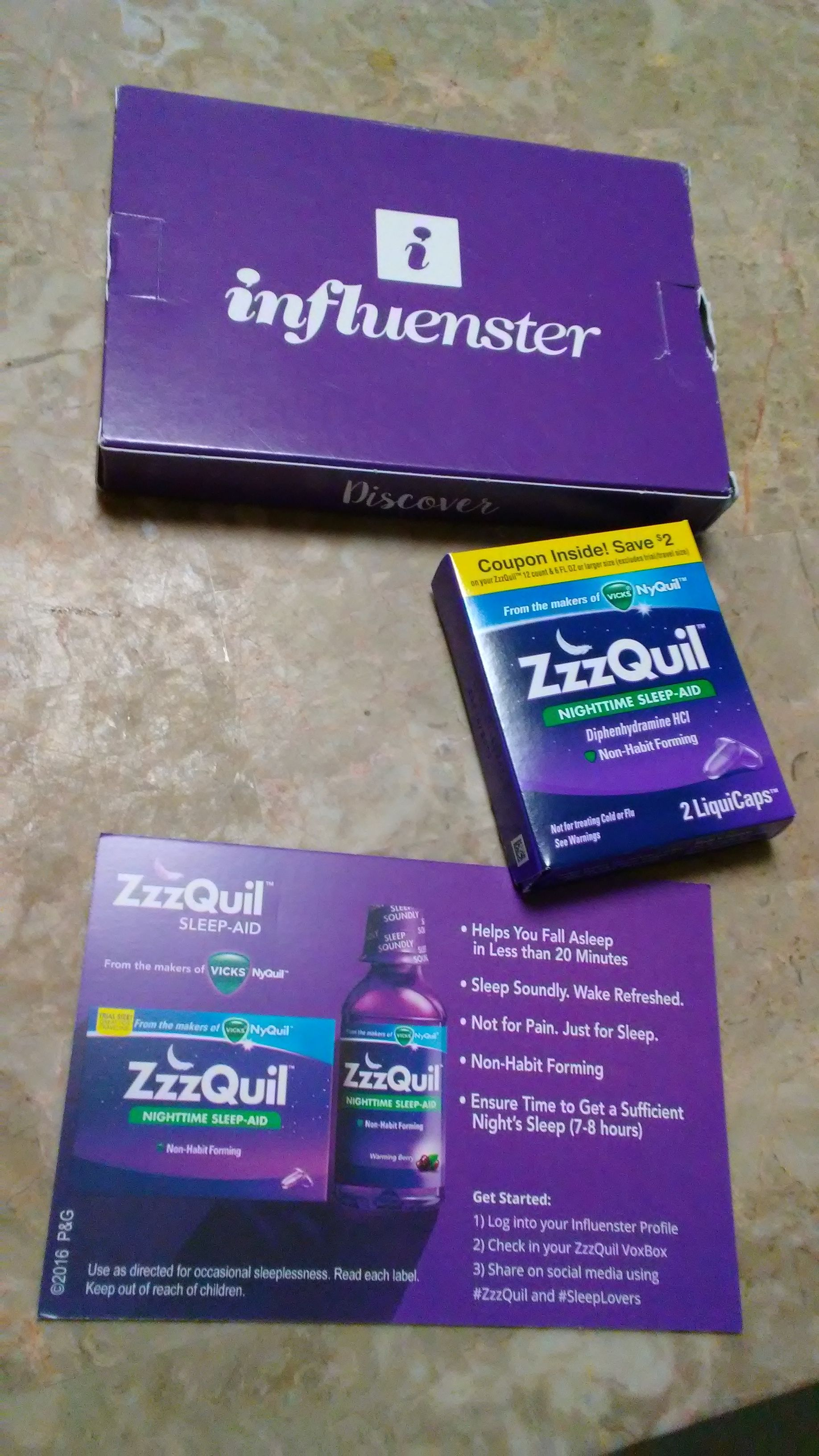 I Got My Zzzquilvoxbox I Received Zzzquil For Testing Purposes From Influenster I Don T Take Zzzquil But I Nighttime Sleep Aid Habit Forming Influenster