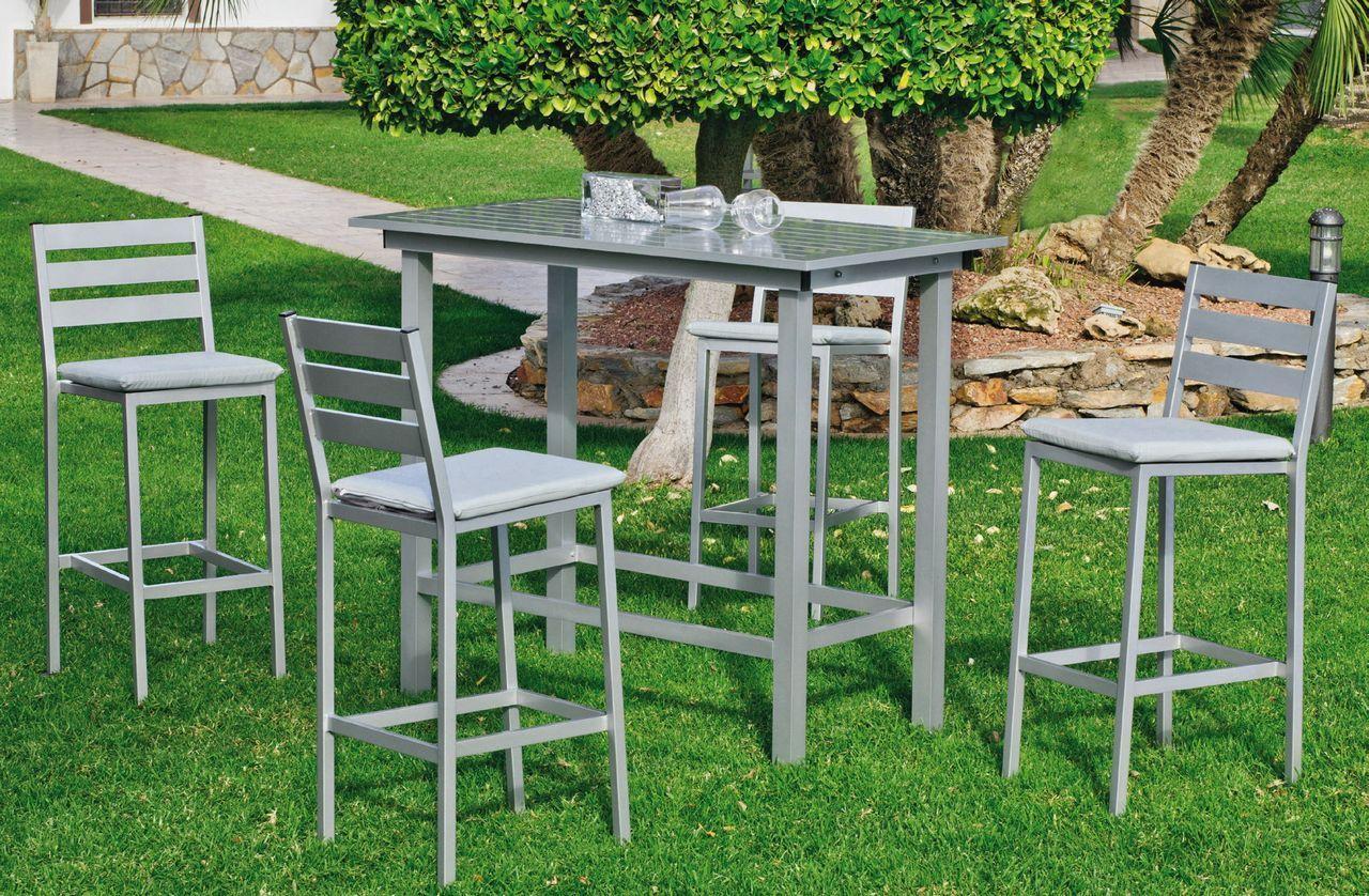 Salon De Jardin Haut Aluminium Galicia Gris 4 Places Meubles De Jardin Bar Jardin Meuble Jardin Salon De Jardin