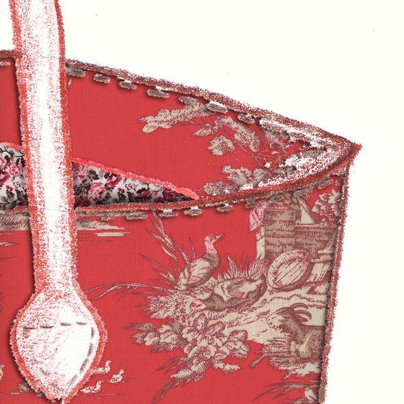Tuto Le sac façon pliage en toile de Jouy rouge | sacs | Sac