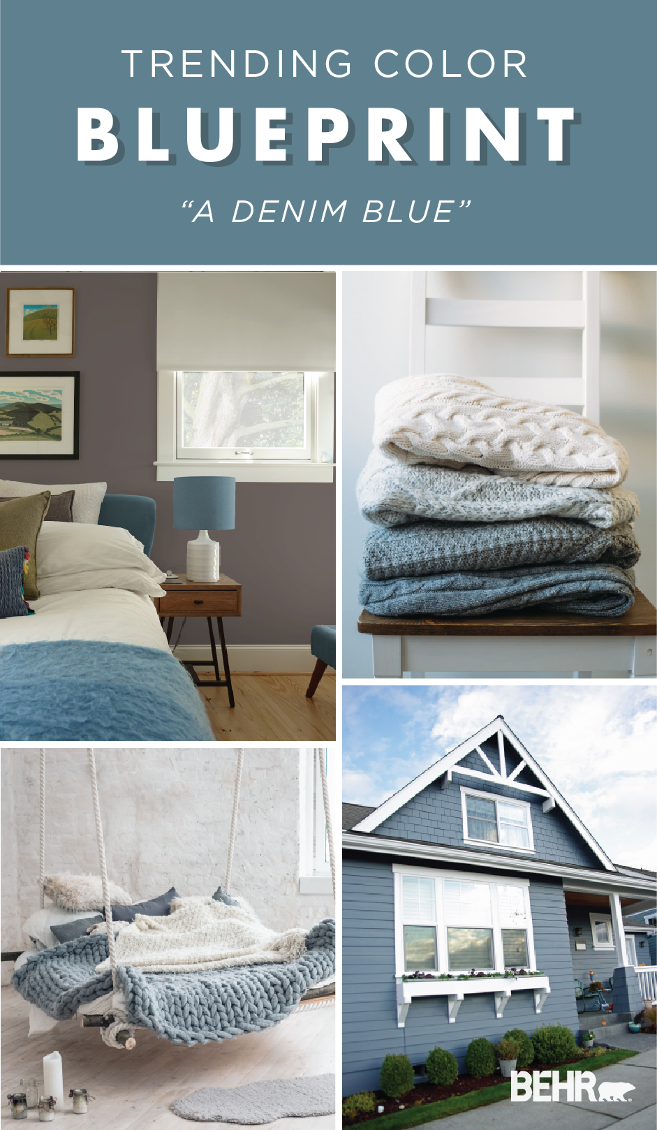 Color of the year blueprint paint color palettes - Behr color of the year ...
