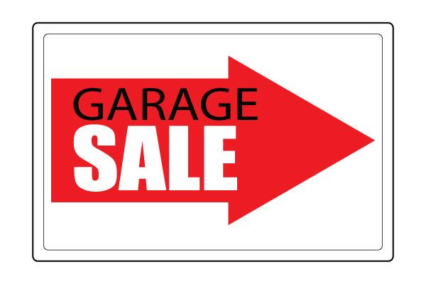 Printable Garage Sale Arrow Signs PDF Free Download Free Printable