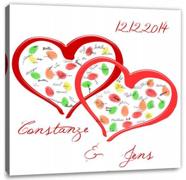 Fingerabdruck Baum Hochzeitsgeschenk Fingerabdruck Zwei Herzen