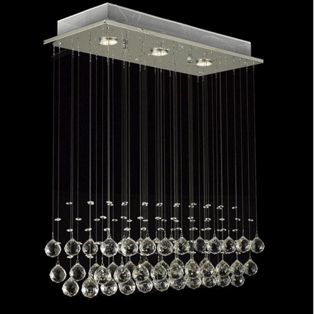 Glighone Led Deckenleuchte Kristall Hangend Kronleuchter Modern Pendelleuchte Rain Drop Beleuchtung Mit 3 Le Kronleuchter Modern Kronleuchter Beleuchtung Decke