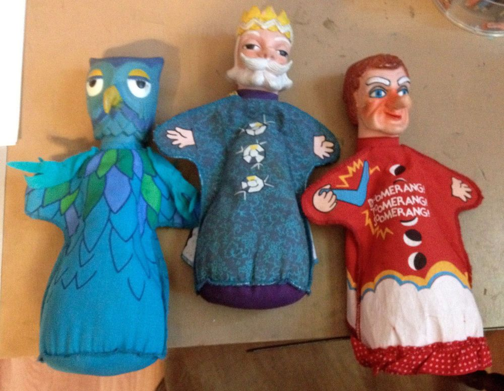 Vintage Ideal Mr Rogers Puppets Lady Elaine Fairchilde X The Owl King Friday Mr Rogers Puppets Mr Rogers Puppets