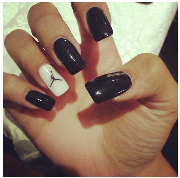jordan shoes gold black and white nails with rhinestones 778567
