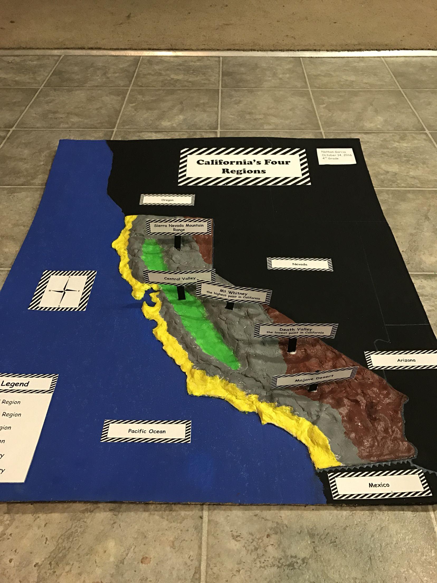California Relief Project California S Four Regions Salt