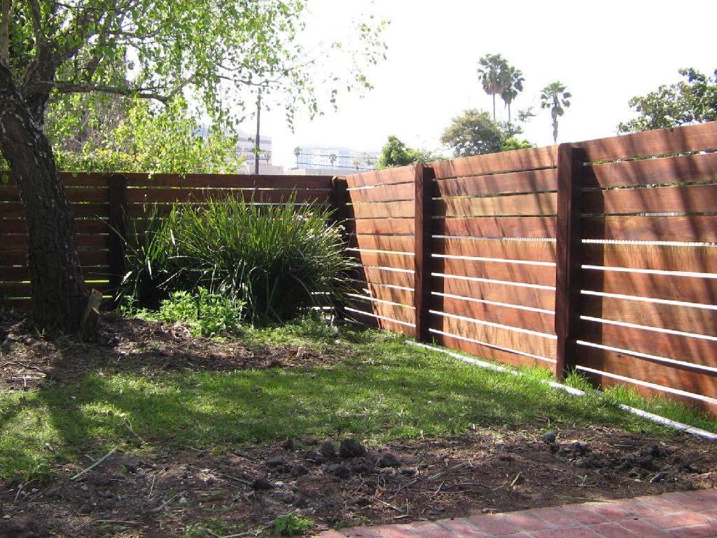 Wood Fence With Horizontal Slats Inspiration Outside