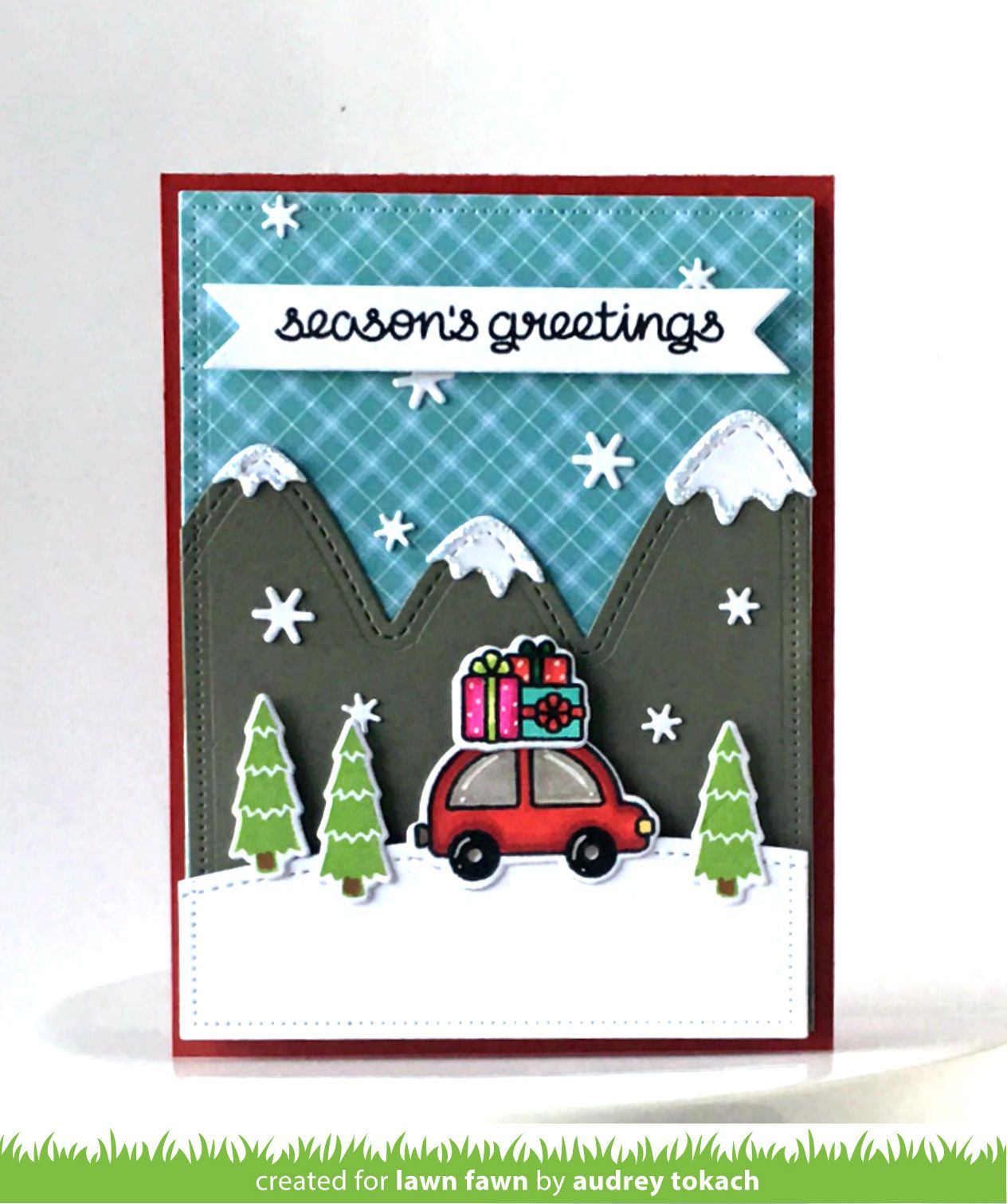 Lawn fawn home for the holidays stitched mountain borders card lawn fawn home for the holidays stitched mountain borders card by audrey for kristyandbryce Images