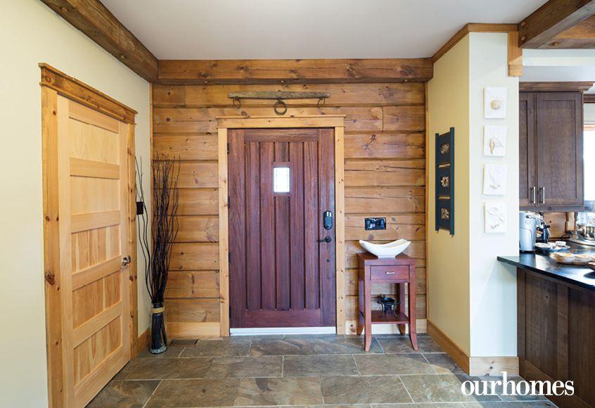 A custom-made solid mahogany door by Madawaska Doors lends a medieval look to & A custom-made solid mahogany door by Madawaska Doors lends a ...