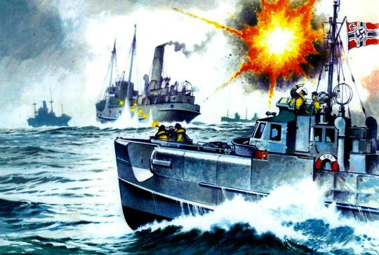 Schnellboote attaque un convoi dans la Manche