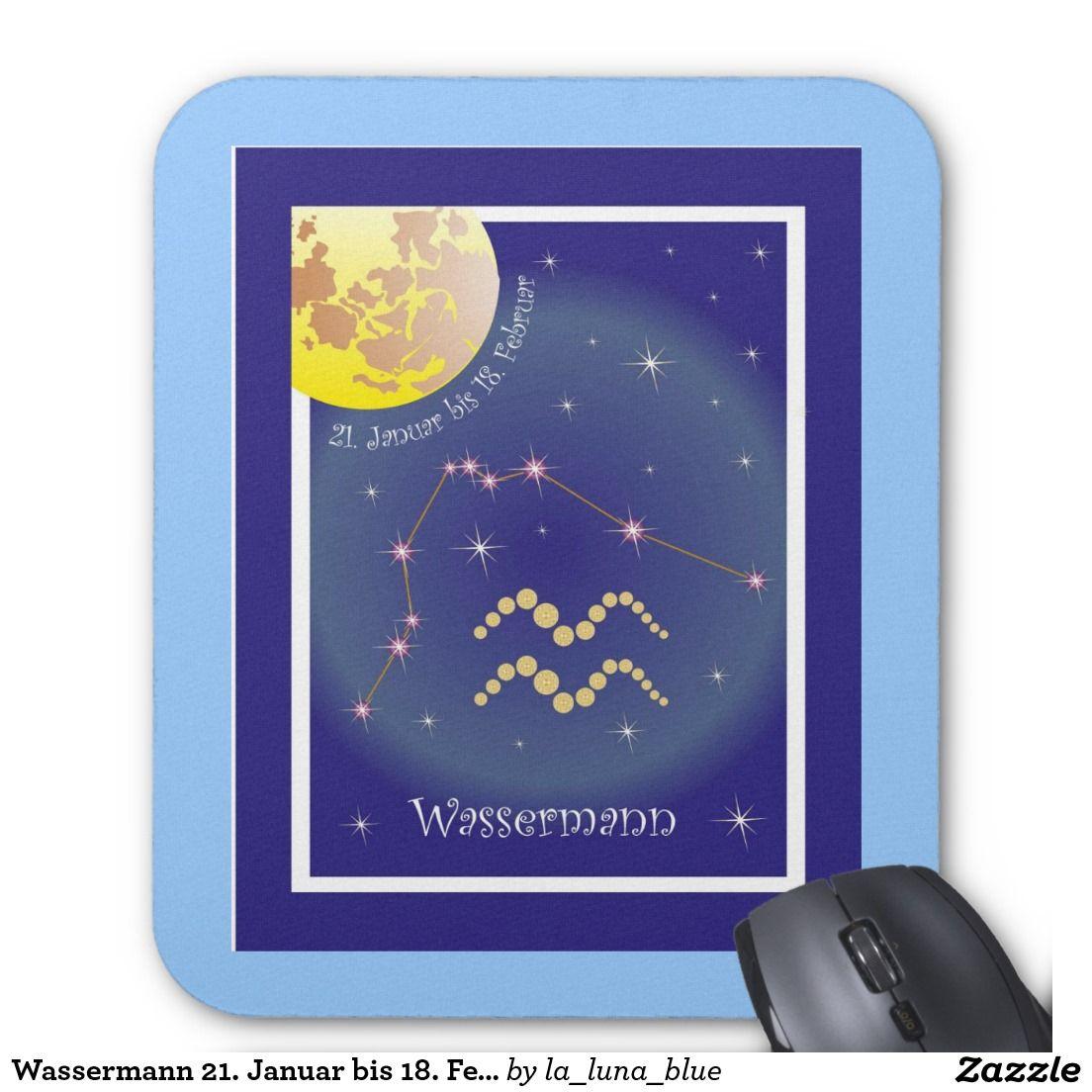 21 Januar Sternzeichen wassermann 21. januar bis 18. februar mauspad | sternzeichen zodiac