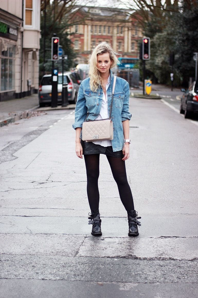 Outfits with Denim Jacket-20 Ideas How to Wear Denim Jackets ...