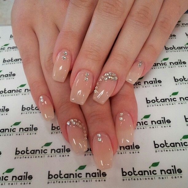 Rine Stones Nails Best Acrylic Nails Botanic Nails