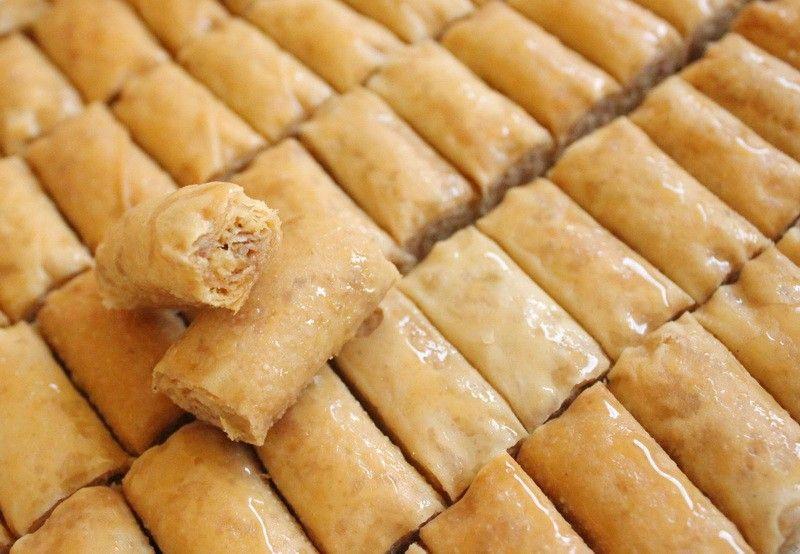 حلويات سعد الدين اصابع حدف بقلاوه حلويات عربية الصفحة الرئيسية Food Hot Dog Buns Baklava