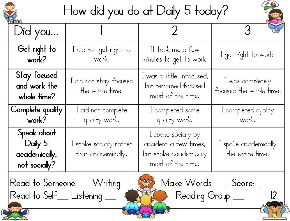 The Daily 5 Kindergarten | Publishers :: Hilary Lewis :: Daily 5