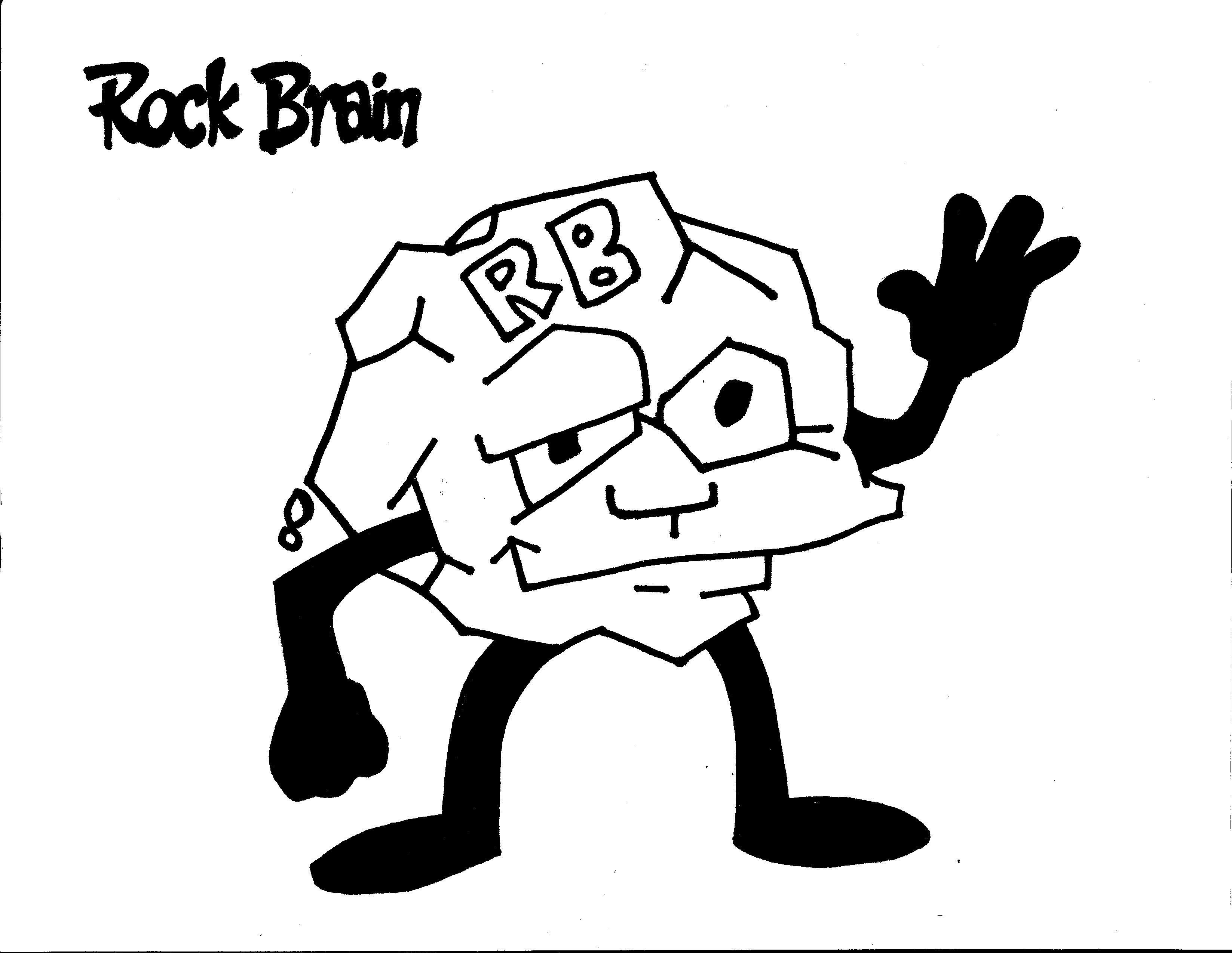 Rock Brain Coloring Page Team Unthinkables Superflex Social