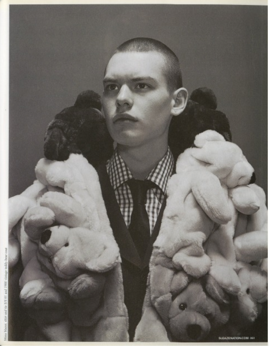Sleazenation, June 2001, Fashion by Jean-Charles de Castelbajac, Photography by Donald Christie, Styling by Thom Murphy