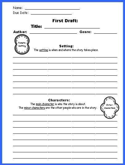 Sandwich Book Report Project templates, printable worksheets, and - project report
