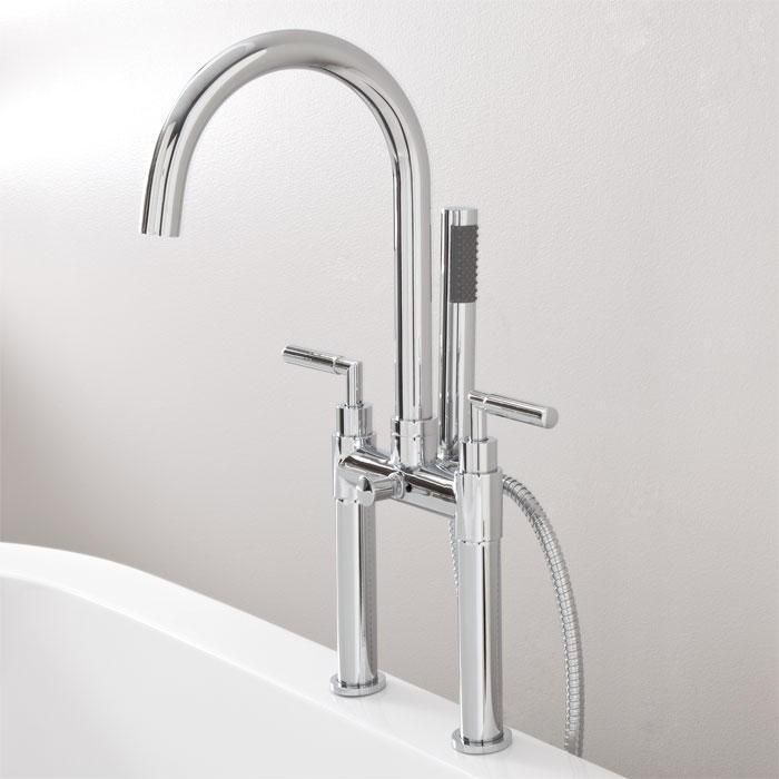 Desma Deck-Mount Tub Faucet and Hand Shower | Faucet, Tubs and ...