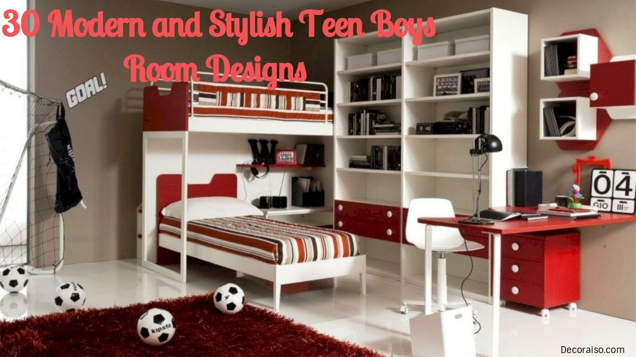 Cool 30 Modern And Stylish Teen Boys Room Designs Decoraiso