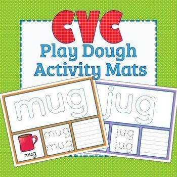 Cvc Word Family Play Dough Activity Mats Phonics Kindergarten Word Work Kindergarten Playdough Activities
