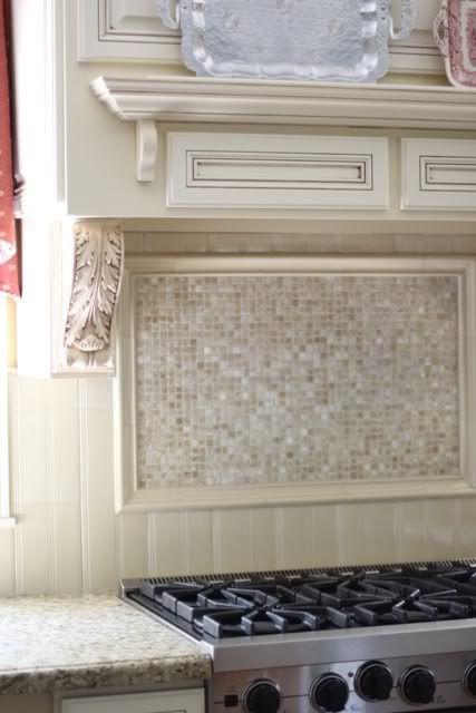 Backsplash behind stove Kitchen Ideas Pinterest Stove