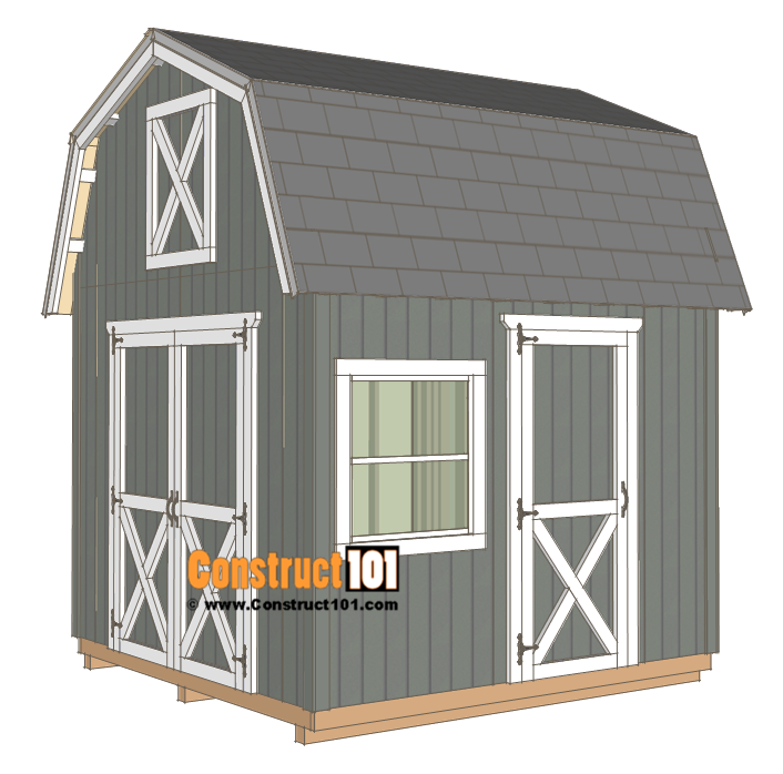 10x10 Barn Shed Plans Free Pdf Download Construct101 Barns Sheds Building A Shed Shed Plans