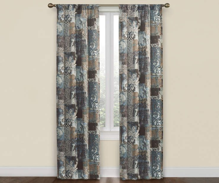 I Found A Blue Brown Colby Spice Room Darkening Curtain Panel