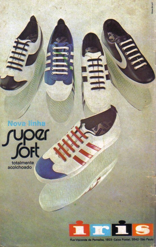 b6c5d4bf7d8a4 Galeria de fotos com anúncios e fotos da moda dos anos 70. Calçados, tênis