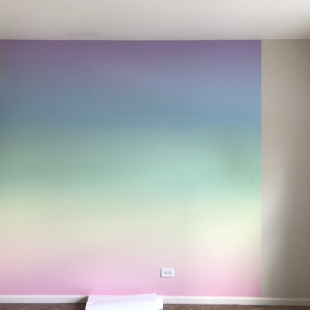 Rainbow Mist Ombre Wallpaper Removable Wallpaper Peel Etsy In 2021 Ombre Wallpapers Removable Wallpaper Prepasted Wallpaper