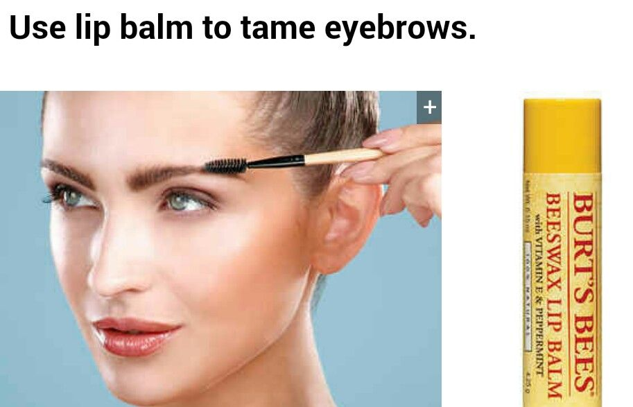 Use Lip Blame To Tame Eyebrows Makeup Tipsntricks Pinterest