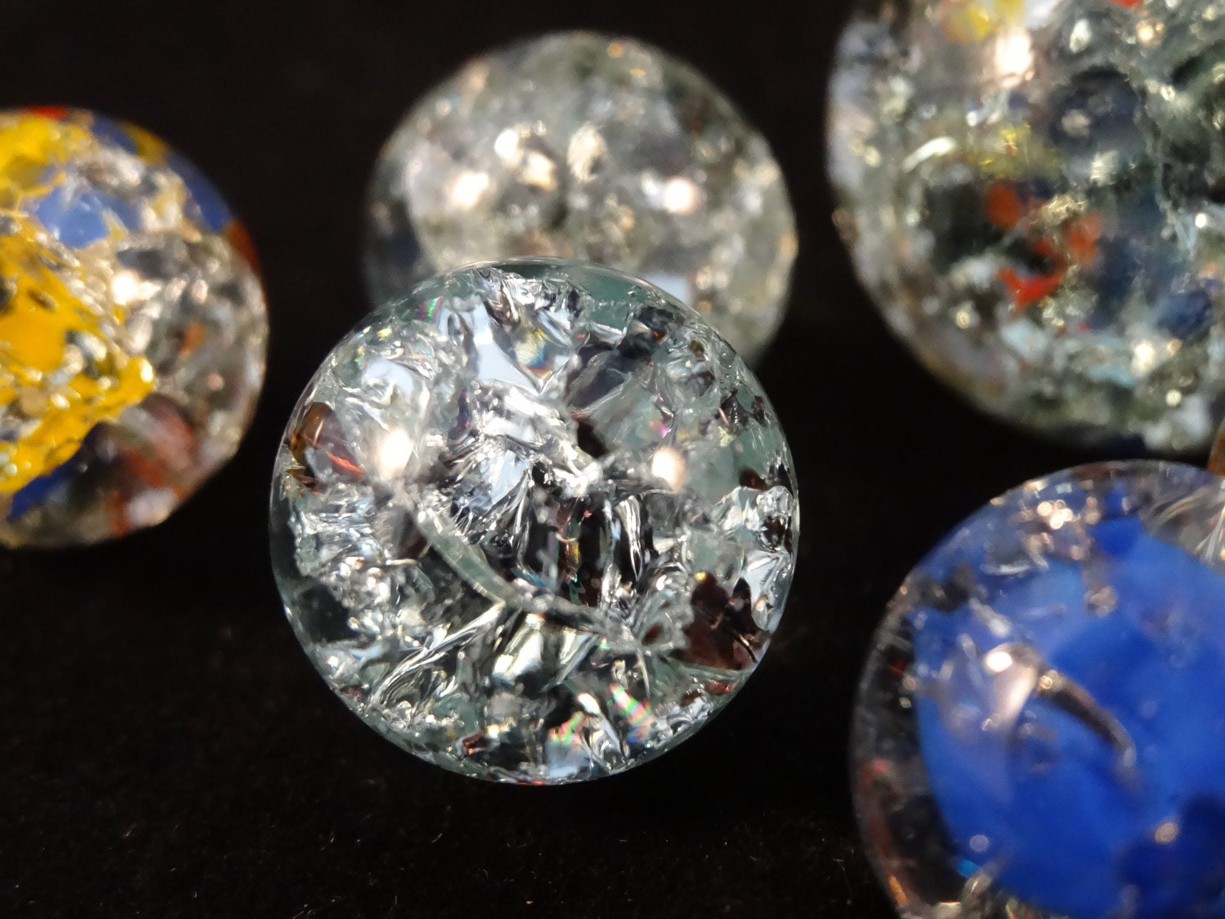 how to make oven baked marbles fried marbles this would be and could be very cute jewelry. Black Bedroom Furniture Sets. Home Design Ideas