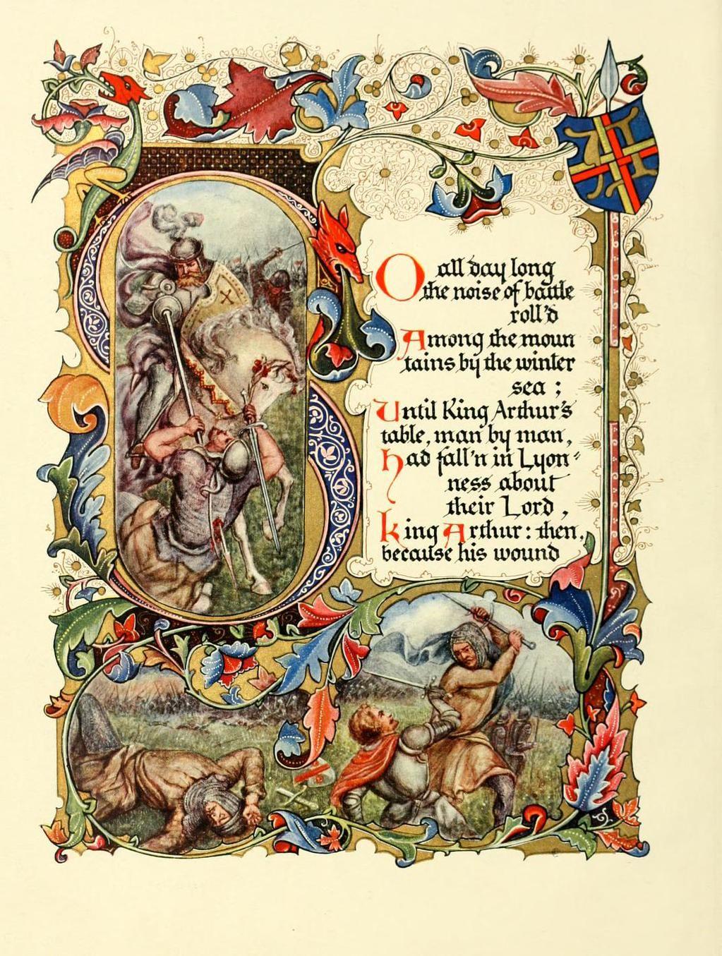 Tennyson's Morte d'Arthur beautifully illuminated by
