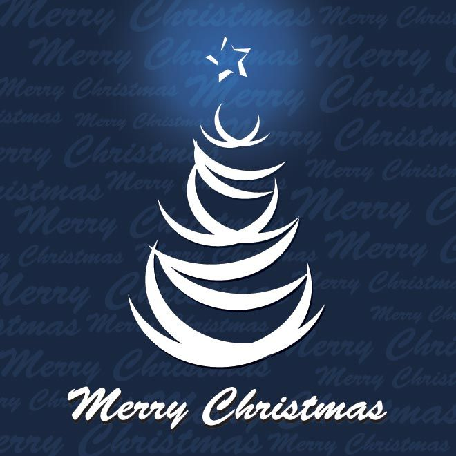 Free vector illustration of merry christmas typography logo with free vector illustration of merry christmas typography logo with lines tree on blue xmas pattern background m4hsunfo