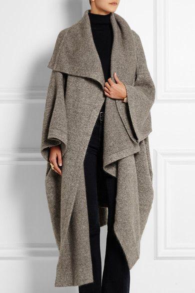 Stella McCartney|Draped knitted blanket coat|NET-A-PORTER.COM