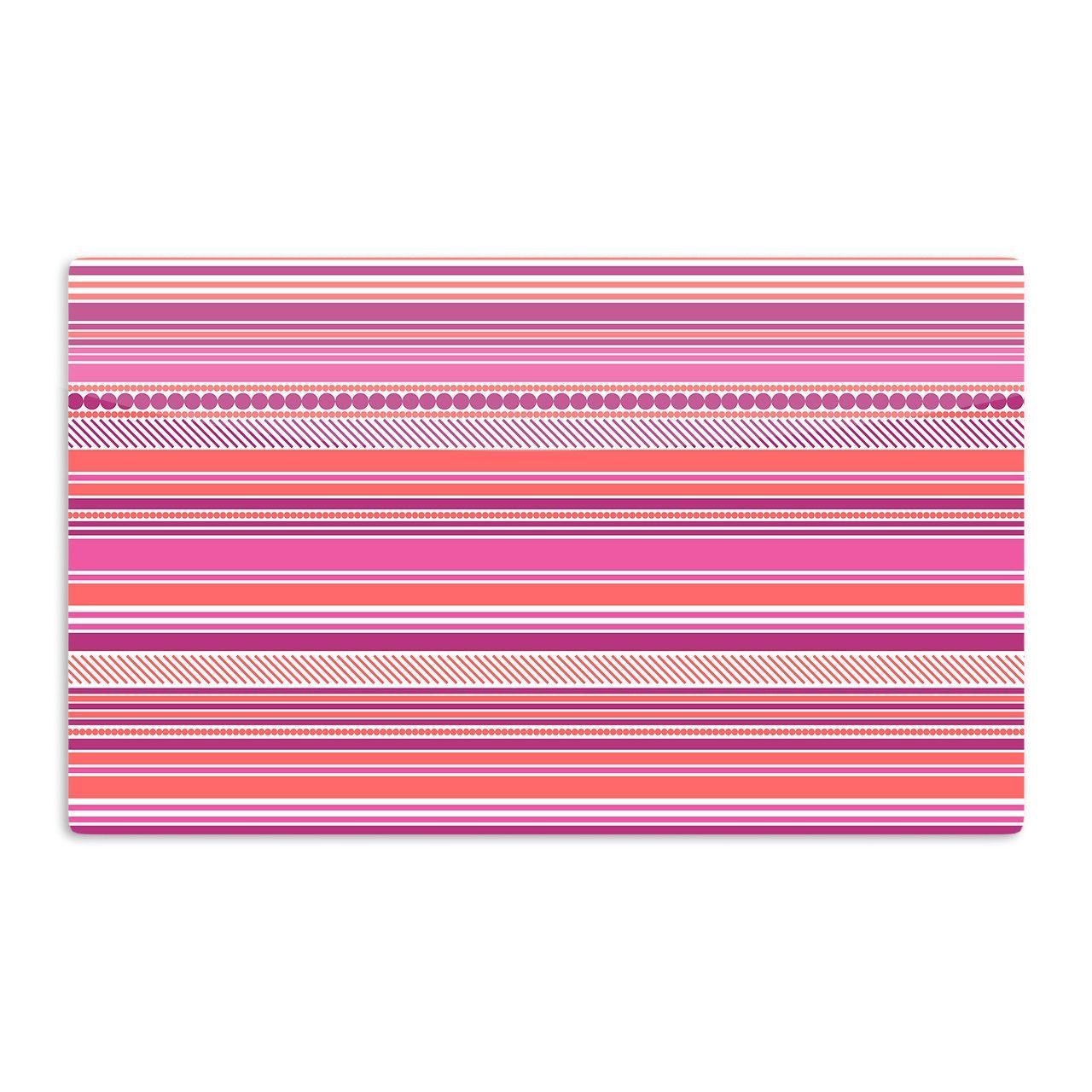 "Nandita Singh ""Pink Ribbons"" Blush Purple Aluminum Magnet"