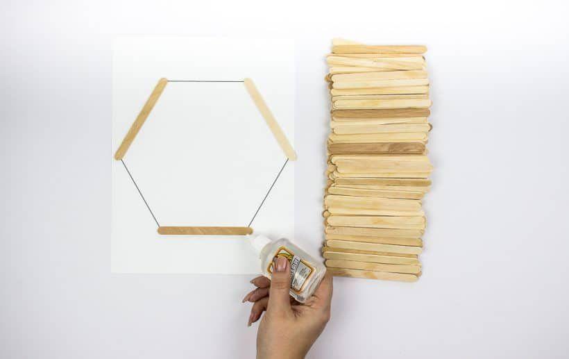 Easy DIY Hexagon Shelves -   22 diy Shelves popsicle sticks ideas