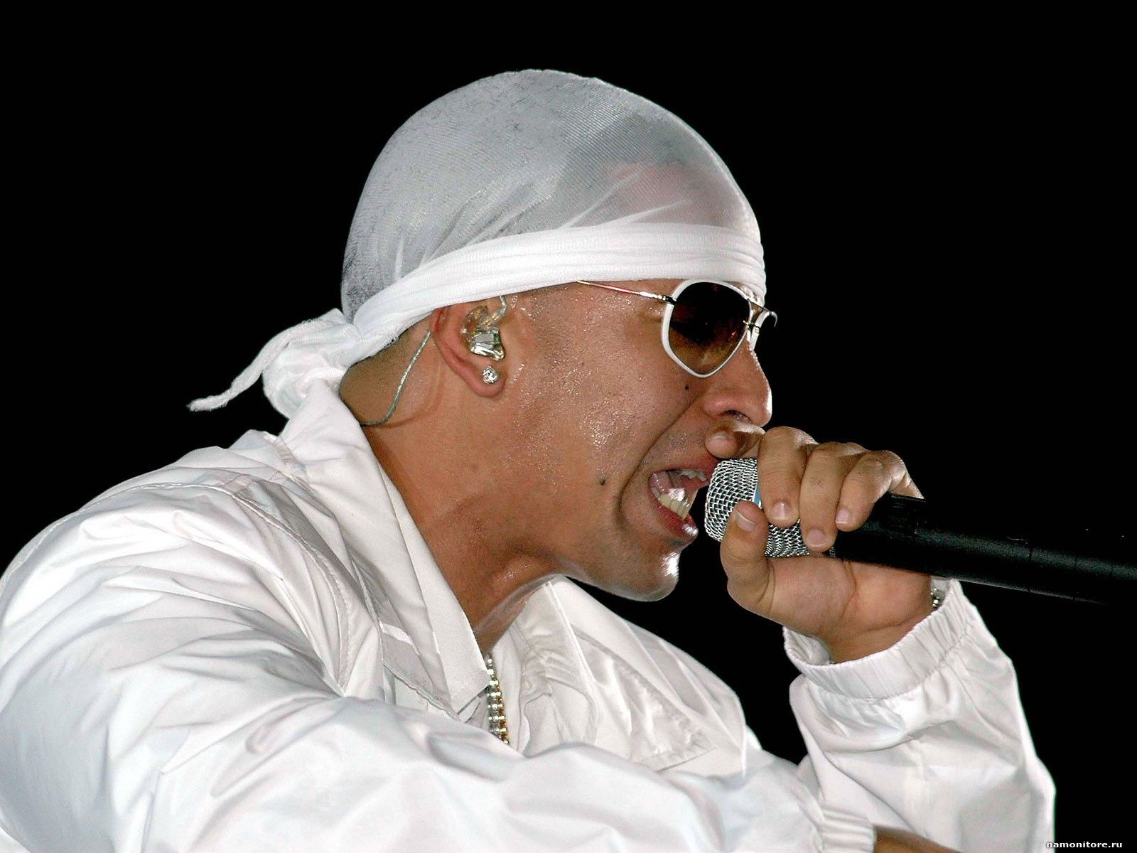 Daddy Yankee Black and White -Contact the coolest celebrities free at StarAddresses.com