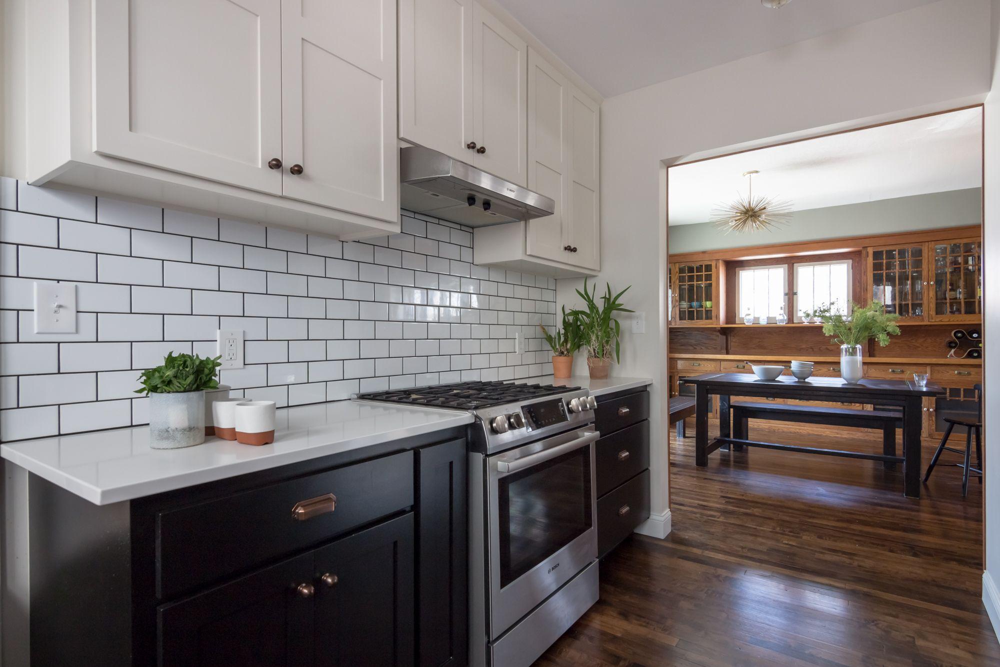 Black White Craftsman Bungalow Kitchen By J Jorgensen Design Studio Www J Jorgensen Com Bungalow Kitchen Kitchen Remodel Kitchen