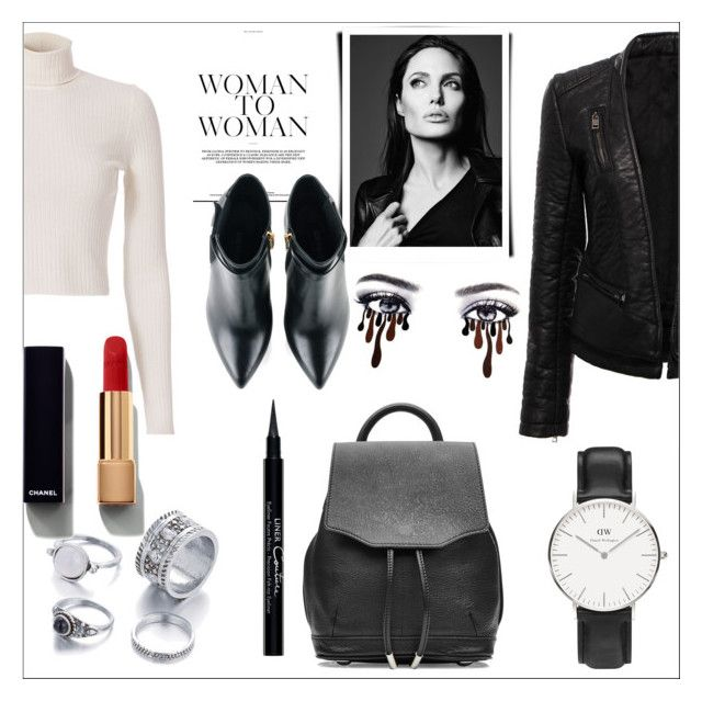 """Night out."" by mayabee88 ❤ liked on Polyvore featuring A.L.C., Kim Kwang, rag & bone, Daniel Wellington, Givenchy, Chanel, MustHave and polyvoreeditorial"