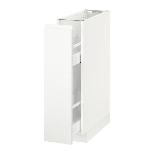 METOD Unterschrank ausziehb. Einrichtg. - weiß, Voxtorp weiß - IKEA ...